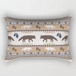 Boho animals | Autumn fox tan Rectangular Pillow