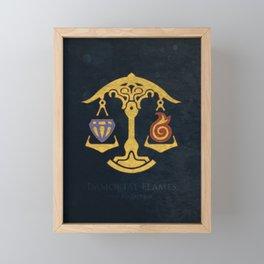 Ul'dha Flag - The Immortal Flames ( FFXIV) Framed Mini Art Print