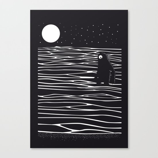 Scary monster! Canvas Print