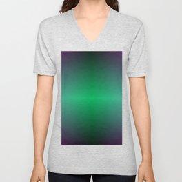 Green Blue and Purple Storm Horizon Unisex V-Neck