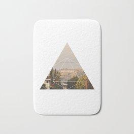 Hollywood Sign - Geometric Photography Bath Mat