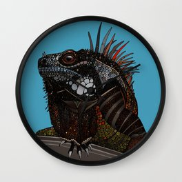 iguana blue Wall Clock