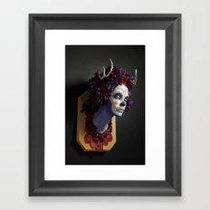 Momma Muertita Side Framed Art Print