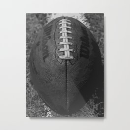 Big American Football - black &white Metal Print