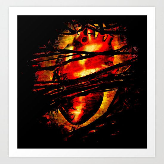 Heart of Fire Art Print