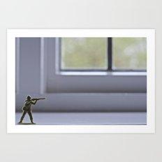 Alone Wolf Art Print