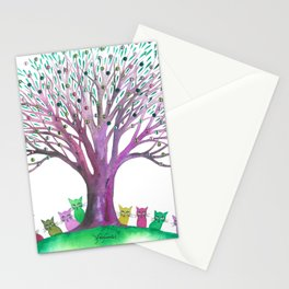 Los Padres Whimsical Cats Stationery Cards