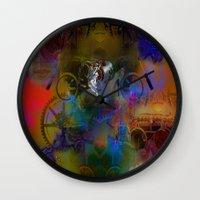 steam punk Wall Clocks featuring Steam Punk by Robin Curtiss