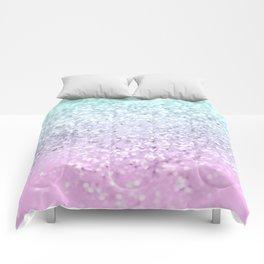 Mermaid Girls Glitter #2 (2019 Pastel Version) #shiny #decor #art #society6 Comforters