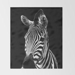 Zebra Black Throw Blanket