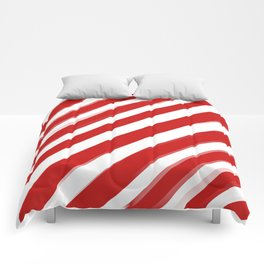 Red Stripes Comforters