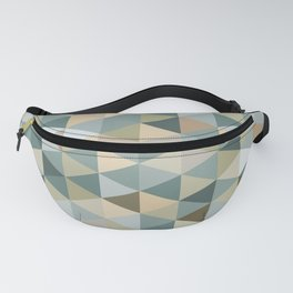 Retro Triangles in Blue Green Neutral B Fanny Pack