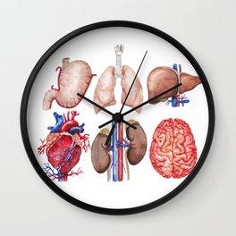 Watercolor organs Wall Clock