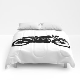 Motor Cycle Silhouette Comforters