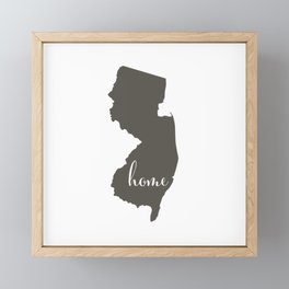 New Jersey is Home Framed Mini Art Print