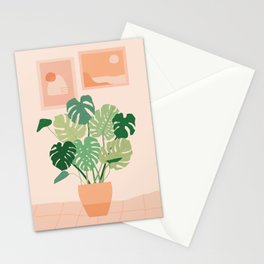 Monstera plant + Wall inspo Stationery Cards