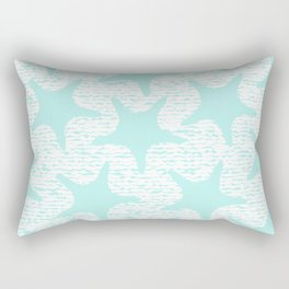 turquoise starfish pattern Rectangular Pillow