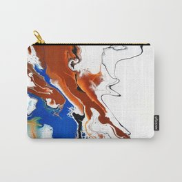 Fluid Unique Acrylic Painting Carry-All Pouch