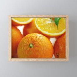Fresh Orange for the Kitchen Framed Mini Art Print