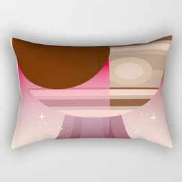 Europa Clipper Space Art poster. Rectangular Pillow