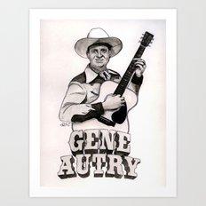 Gene Autry Art Print