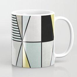 Colorful Concrete Triangles - Yellow, Blue, Grey Coffee Mug