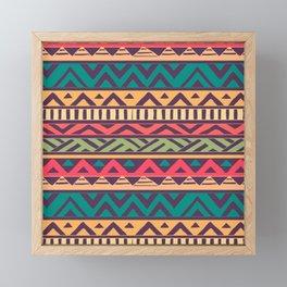 Aztec abstract geometric pattern Framed Mini Art Print