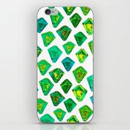 Green gemstone pattern. iPhone Skin