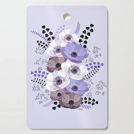 Anemones bouquet in blue Cutting Board