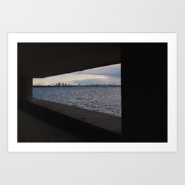 Sea City Skyline Art Print