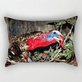 Wild Turkey Close Up Rectangular Pillow