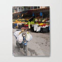 Shopping in Tirana Metal Print