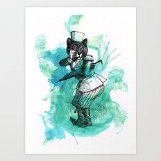 Carnival Bear Time Traveler Art Print