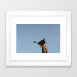 Kelly and the Airplane Framed Art Print