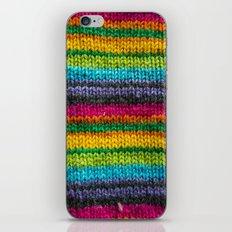 Rainbow In Wool iPhone & iPod Skin