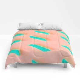 Neon Abstract Pasta Noodles Pattern (Color) Comforters