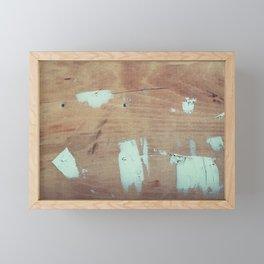 Wooded shipboard repairing Framed Mini Art Print