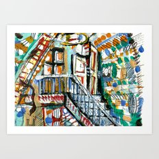 funhouse Art Print
