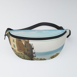 House on the Coast of Cinque Terre Fanny Pack