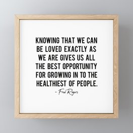 Fred Rogers quote Framed Mini Art Print