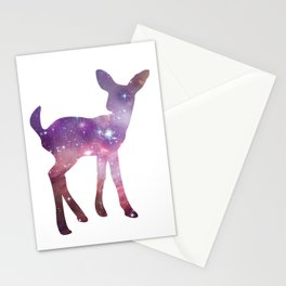 Fawn Spirit Animal - Galaxy Silhouette Deer Stationery Cards