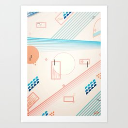 on the pink field Art Print