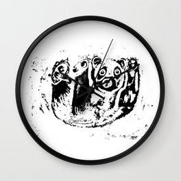 Panda falls Wall Clock