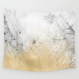 Gold Dust on Marble Wall Tapestry