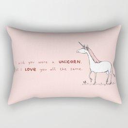 I Wish You Were A Unicorn Rectangular Pillow