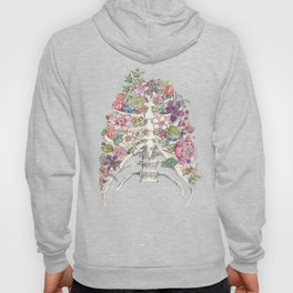 """Blooming on the Inside"" - Flowers in Ribcage Hoody"