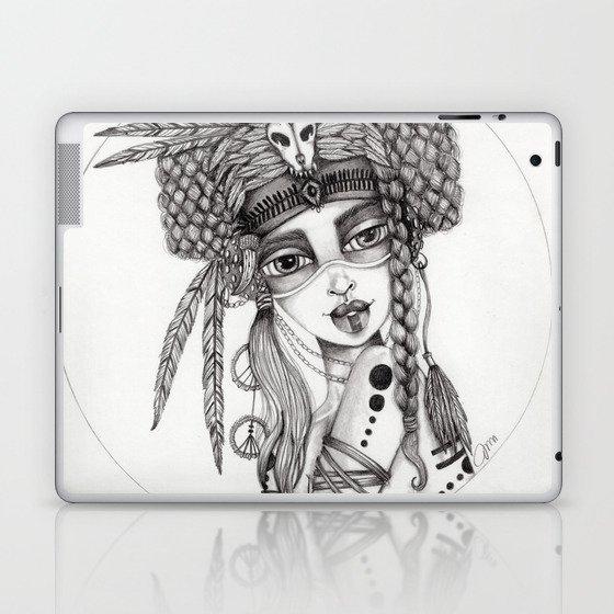 JennyMannoArt Graphite Drawing/Aiyana Laptop & iPad Skin