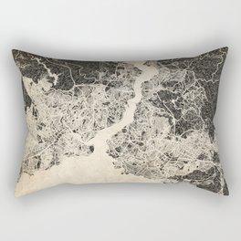 istanbul map ink lines Rectangular Pillow
