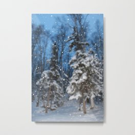 Bright Winter Snow Metal Print