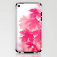 pink on white iPhone & iPod Skin